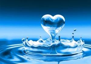 Heart water droplet